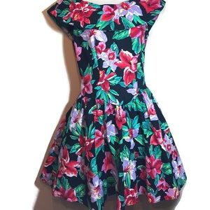 Joni Blair vintage dress Hawaiian Floral 90s sz 5